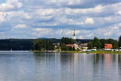 Frymburk nahe Lipno See, Tschechische Republik. stockbilder