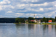 Frymburk near Lipno lake, Czech Republic. stock images