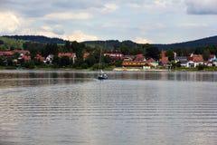 Frymburk at Lipno lake in Czech Republic. Stock Photos