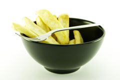 Frys in a Black Bowl Royalty Free Stock Photo