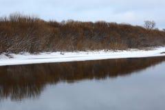 frysa flod arkivfoton
