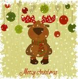 Frysa modell för julhjortwhith Royaltyfri Fotografi