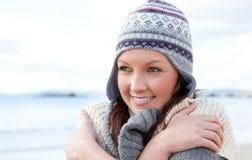 frysa nätt slitage kvinna för hatt Royaltyfri Foto