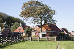 Frysian houses with owl boards, the Netherlands Stock Photos