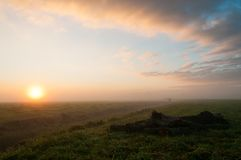 Frysian Sunrise in early Winter stock images