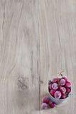 fryst bakgrundscranberry Royaltyfri Foto