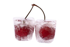 fryst Cherry Royaltyfria Foton