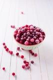 fryst cranberry arkivfoton