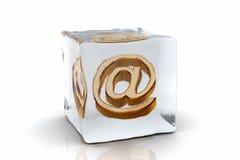 fryst e-post stock illustrationer