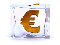 fryst euro Fotografering för Bildbyråer