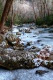 Fryst landskap för vinter` s arkivfoto