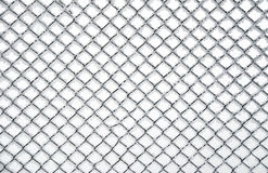 fryst textur för chainlink staket Arkivbild