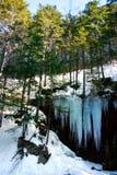 fryste falls arkivfoto