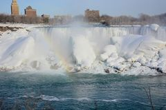 (Fryste) Niagara Falls, arkivfoto