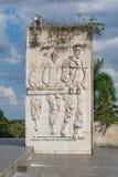 Fryz z ulgą Che Guevara w muzeum w Santa Clara i pomniku zdjęcie stock