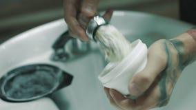 Fryzjerów męskich baty goli pianę zbiory wideo