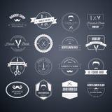 Fryzjerów męskich logowie Fotografia Stock