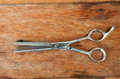 Fryzjerów męskich nożyce obraz royalty free