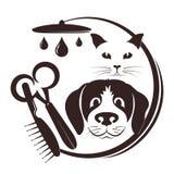 Fryzjer dla zwierząt domowych ilustracja wektor