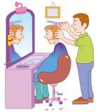 fryzjer męski royalty ilustracja