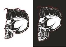 Fryzjer męski czaszki profil royalty ilustracja