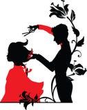 Fryzjer męski i dziewczyna royalty ilustracja