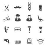Fryzjer męski ikony royalty ilustracja