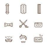 Fryzjer męski ikony ilustracji