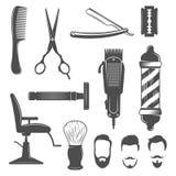 Fryzjer męski ikony set ilustracja wektor