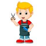 Fryzjer męski kreskówka ilustracji
