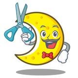 Fryzjer męski księżyc charakteru półksiężyc kreskówka ilustracji