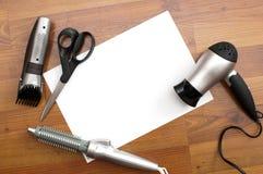 fryzjer męski narzędzia Obrazy Stock