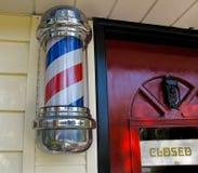 fryzjer męski słup s Zdjęcie Stock