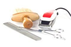 fryzjer męski setu narzędzie Obrazy Royalty Free