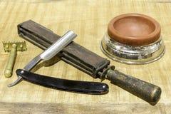 Fryzjer męski starzy narzędzia Obraz Stock
