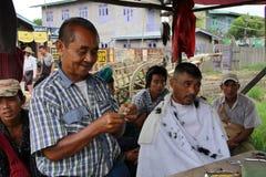 fryzjer męski Myanmar sklep Fotografia Royalty Free