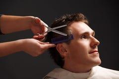 fryzjer męski klient Zdjęcia Stock