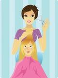 fryzjer praca royalty ilustracja