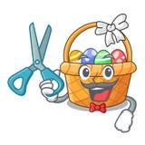 Fryzjera męskiego Easter koszykowa piłka w kreskówka kształcie ilustracja wektor