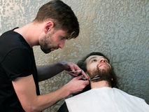 Fryzjera męskiego golenia mężczyzna broda Obrazy Stock