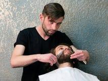 Fryzjera męskiego golenia mężczyzna broda Obraz Royalty Free