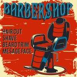 Fryzjera męskiego sklepu plakata ilustracja zdjęcie stock