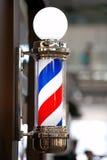 Fryzjera męskiego sklepu rocznika słup retro Fotografia Royalty Free