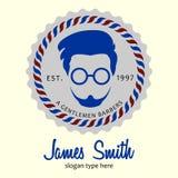 Fryzjera męskiego logo Zdjęcie Royalty Free