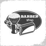 Fryzjera męskiego sklepu logo royalty ilustracja