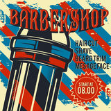 Fryzjera męskiego sklepu plakata ilustracja Zdjęcia Stock