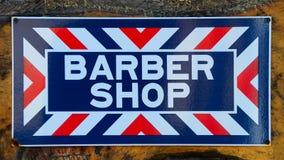 Fryzjera męskiego sklepu znak Zdjęcia Royalty Free