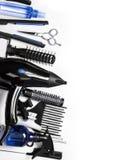 Fryzjerstw narzędzia fotografia stock