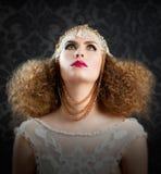 Fryzjerstwa i makeup mody dziewczyna Zdjęcia Royalty Free