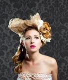 Fryzjerstwa i makeup mody kobieta Fotografia Royalty Free